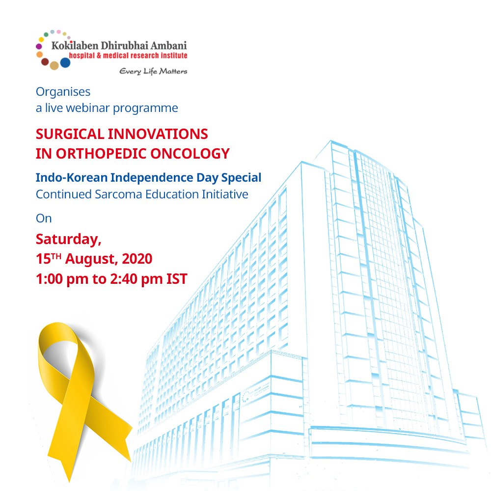 Live webinar on Surgical Innovations in Orthopaedic Oncology