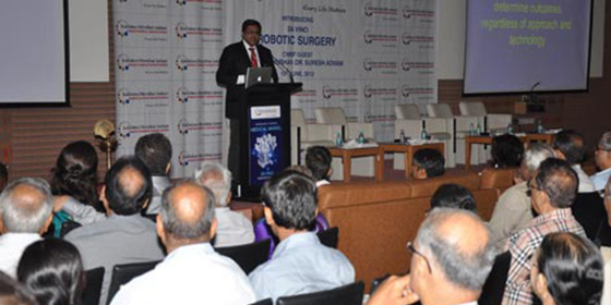 Dr. Dipen Parikh addresses the audience