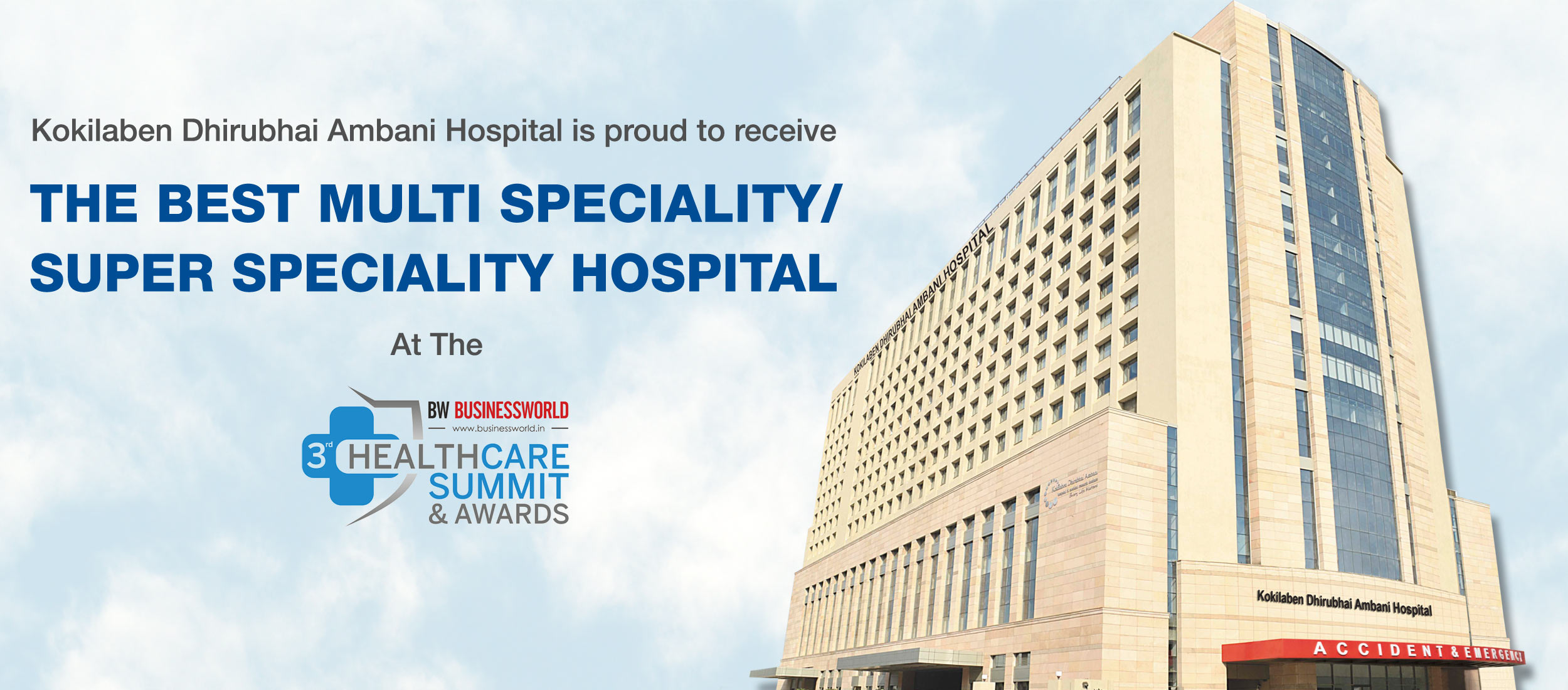 The Best Multi Speciality/ Super Speciality Hospital