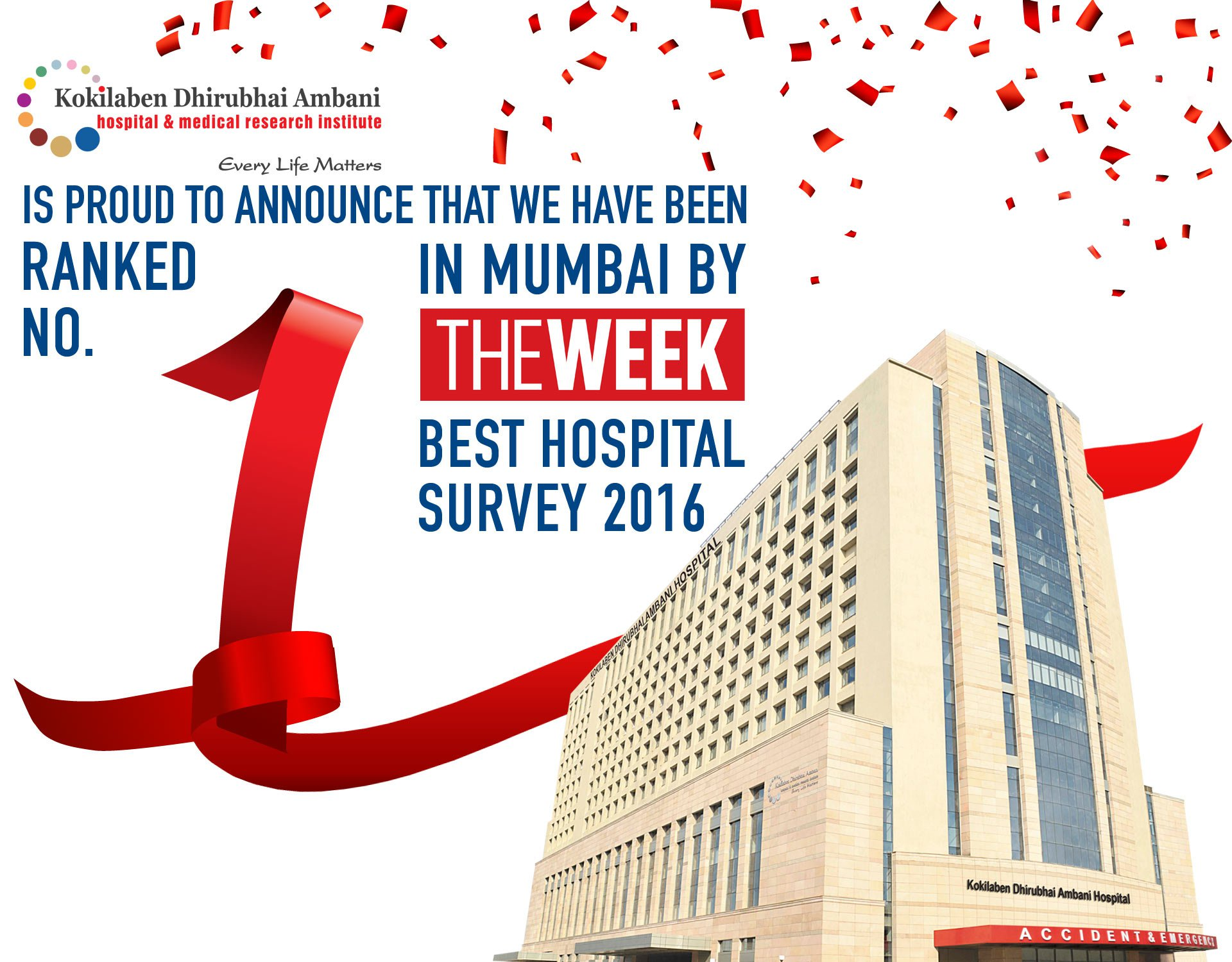 Kokilaben Hospital - Best Hospital Survey 2016