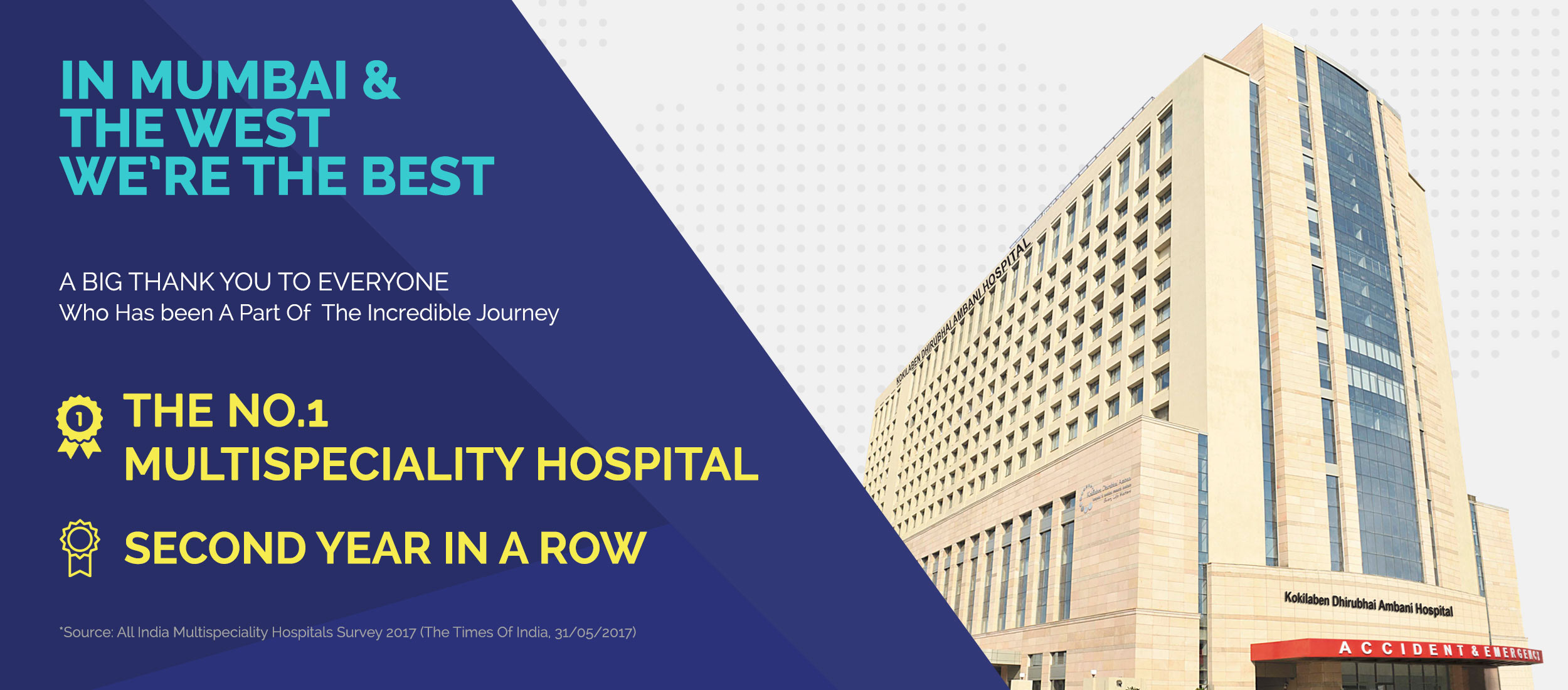 The Number 1 Hospital in Mumbai and Western India