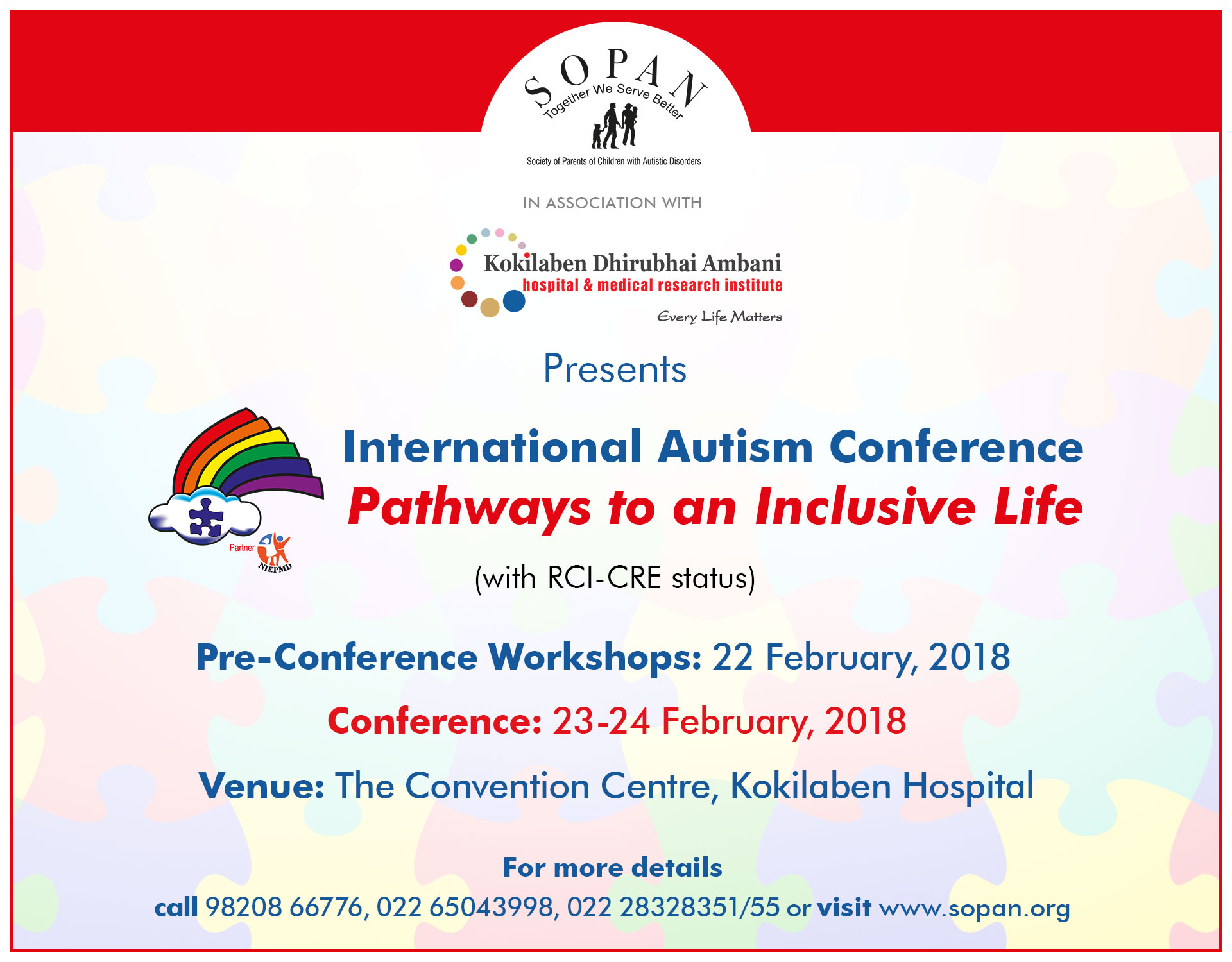 Kokilaben Dhirubhai Ambani Hospital - International Autism Conference
