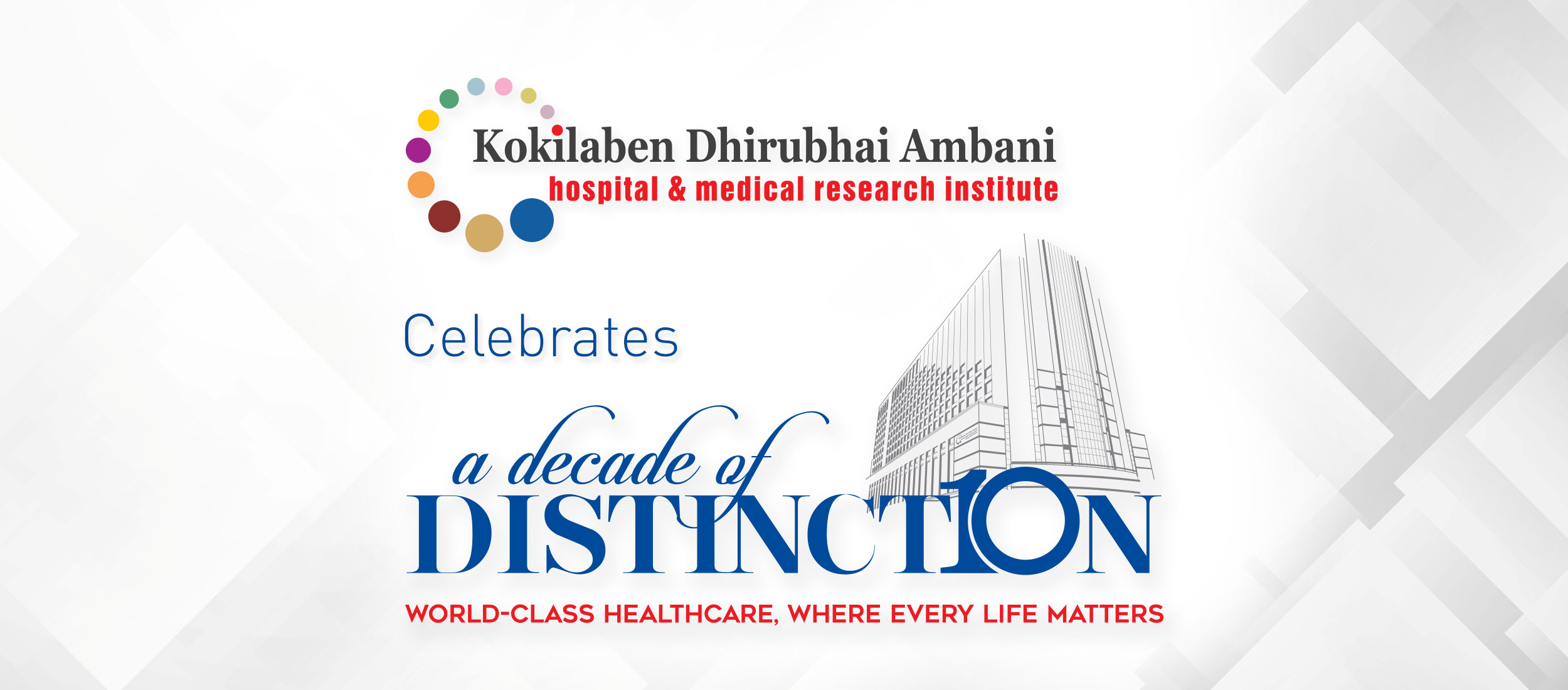 Kokilaben Dhirubhai Ambani Hospital - A Decade of Distinction - Guest of Honour Shri Amitabh Bachchan - To Inspire Us Further