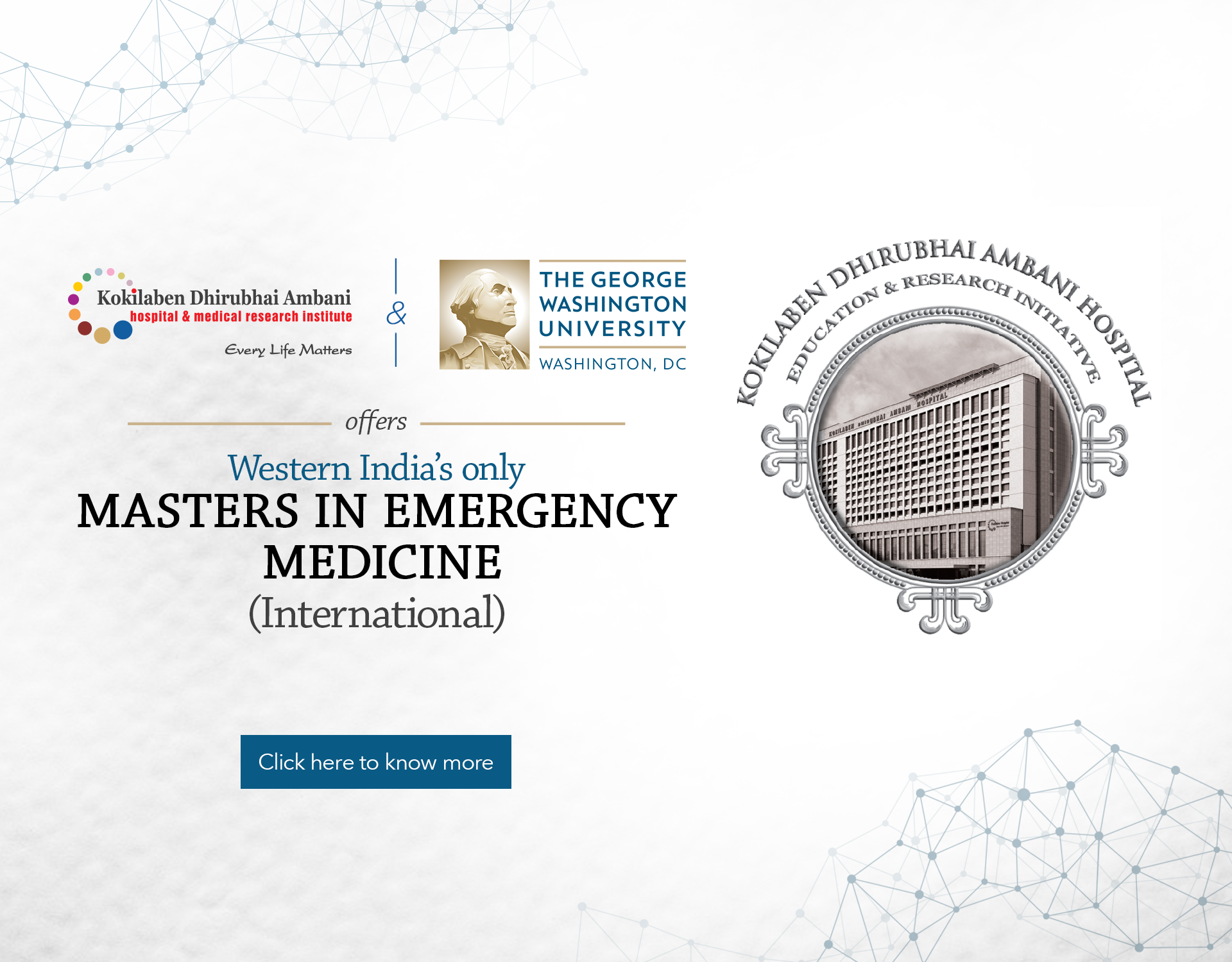 Kokilaben Dhirubhai Ambani Hospital - Masters In Emergency Medicine - International