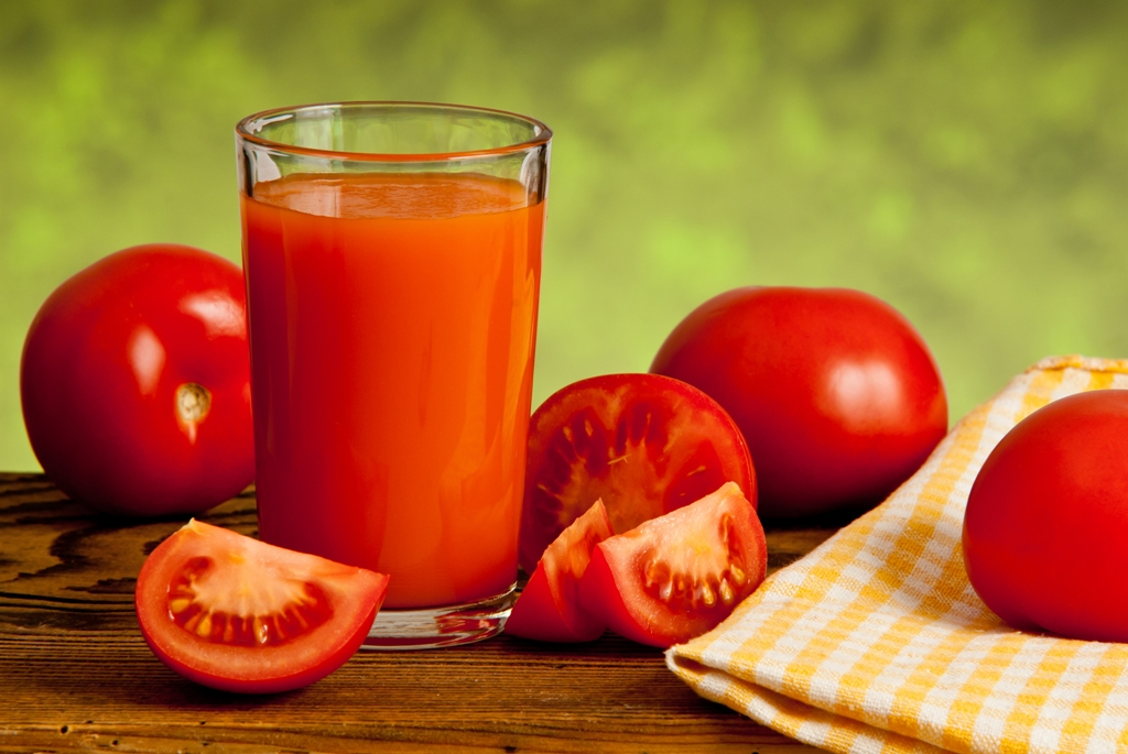 Switch from orange juice to tomato juice.