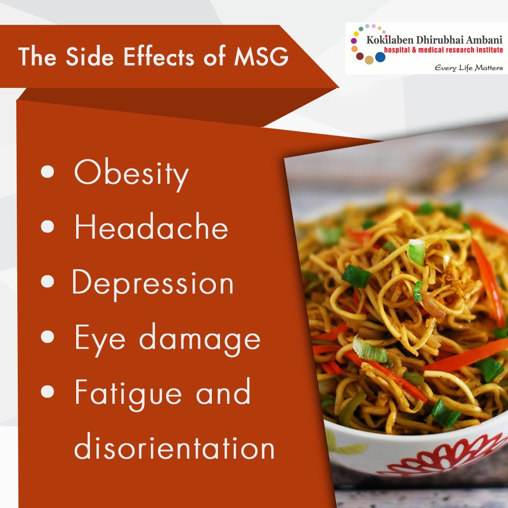 Side effects of MSG