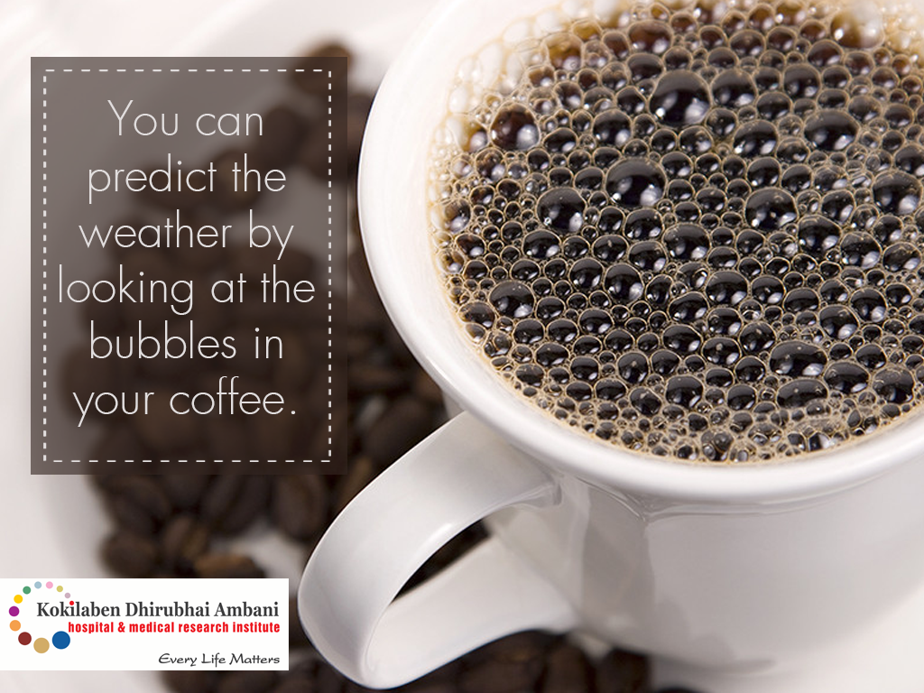 Predict weather with a cup of coffee