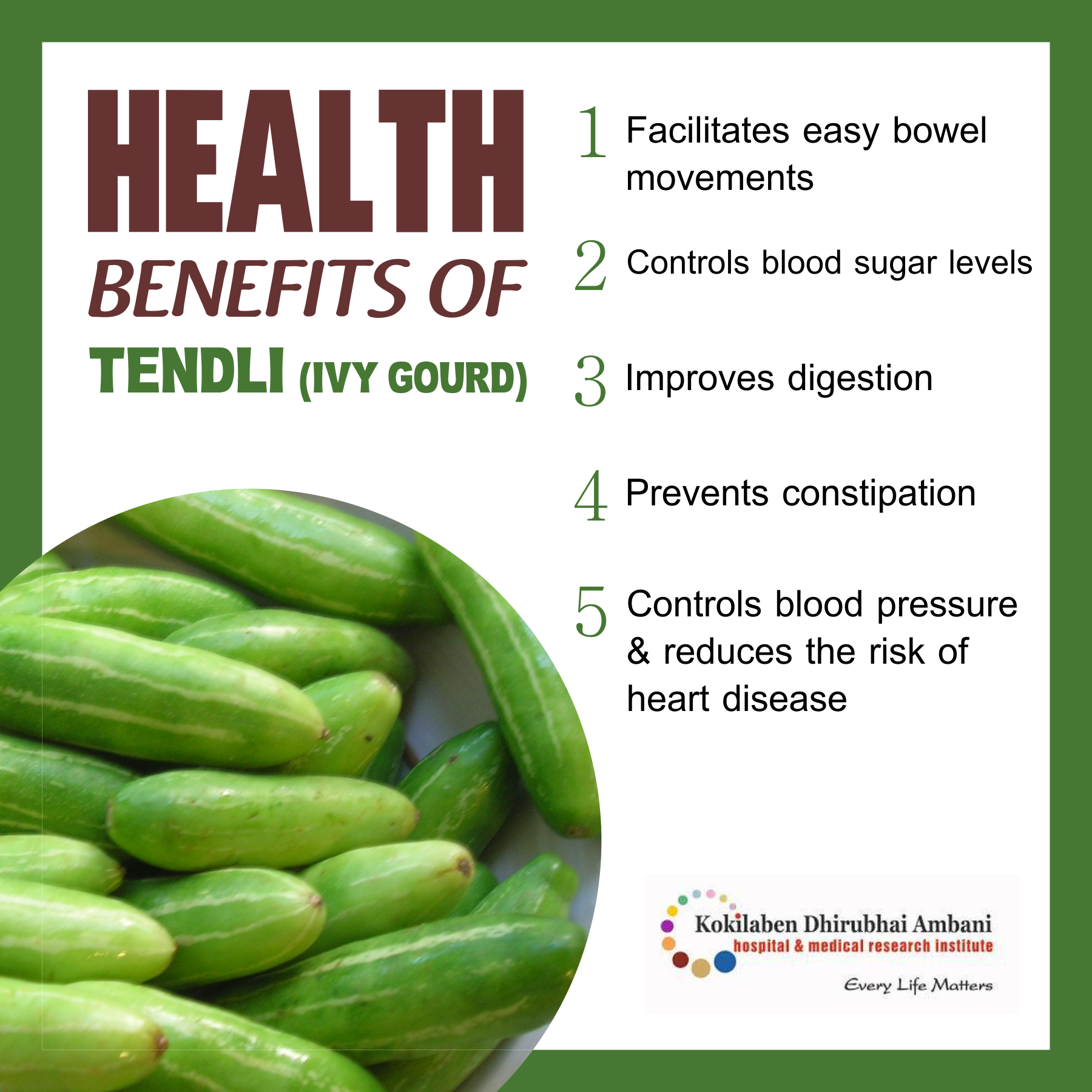 Health Benefits of Tendli (Ivy Gourd)