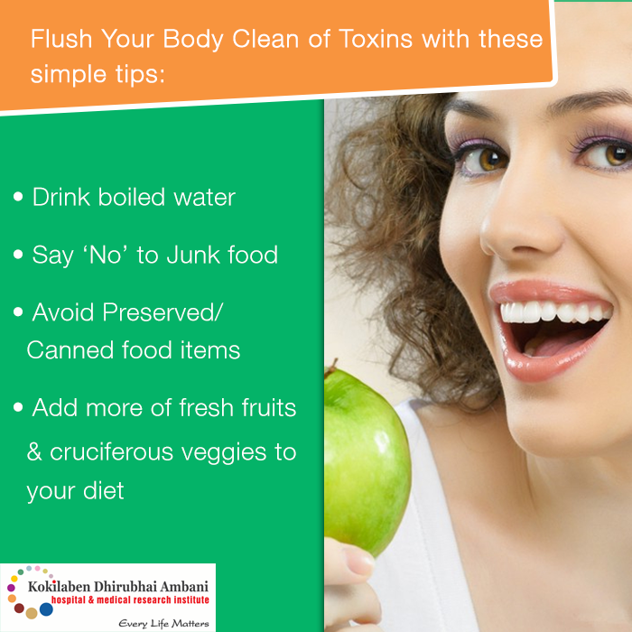 Flush Your Body Clean of Toxins with these simple tips: