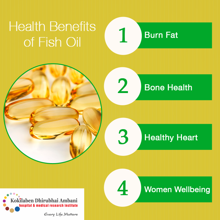 Take a look at some vital health benefits of Fish Oil: