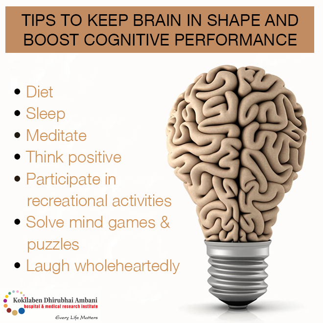 Tips to keep brain in shape and boost cognitive performance: