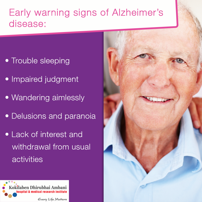 Watch out for these Alzheimer's disease symptoms: