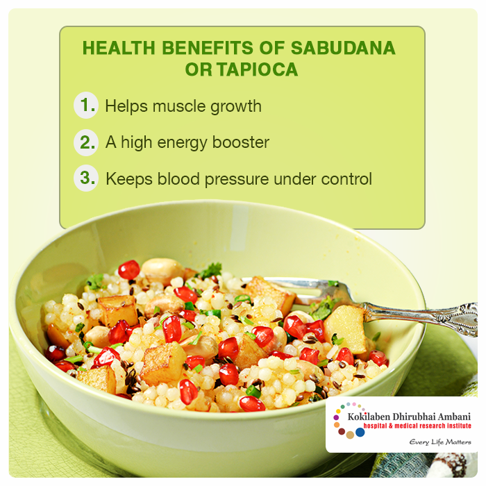 Health benefits of Sabudana or Tapioca