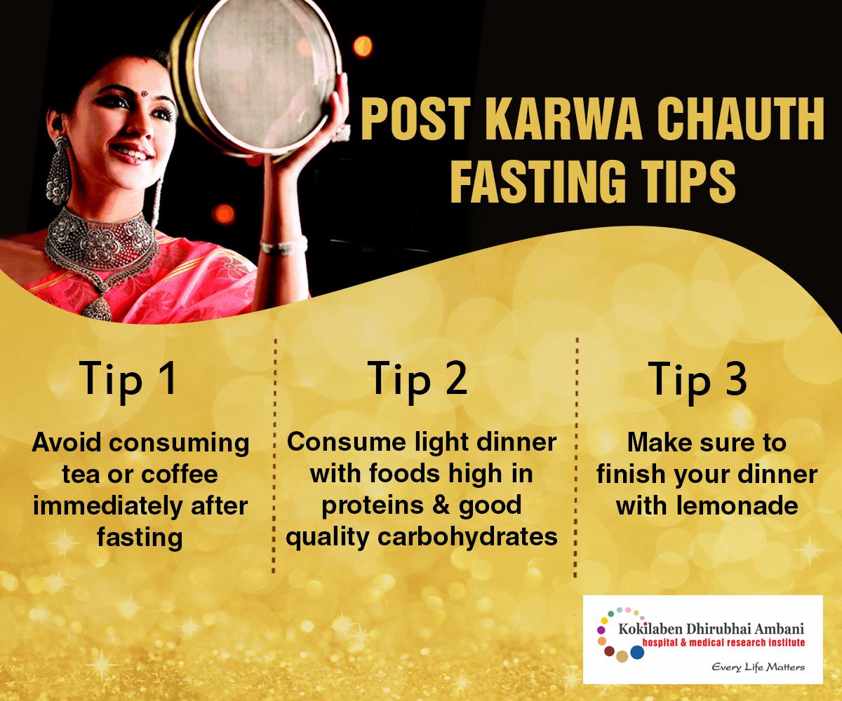 Post Karwa Chauth Fasting Tips