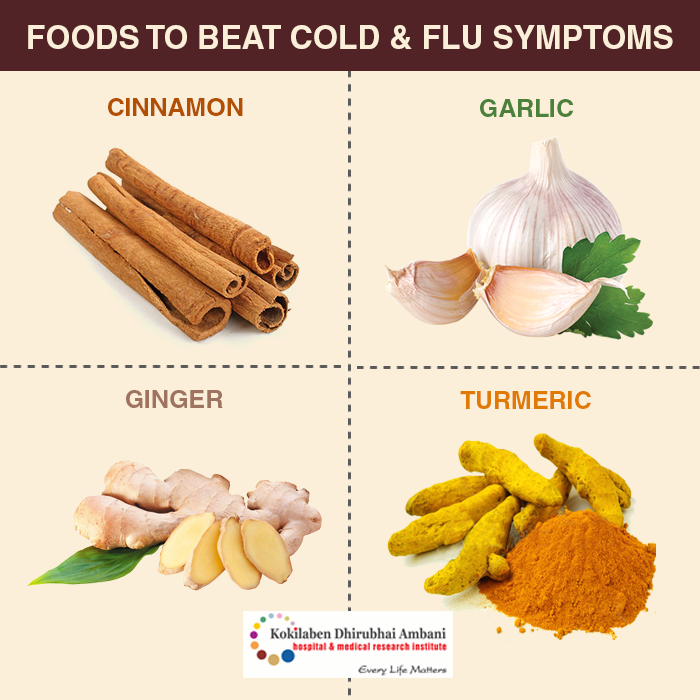Foods to beat Cold & Flu symptoms: