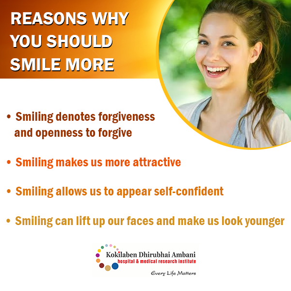 Reason why you should smile more