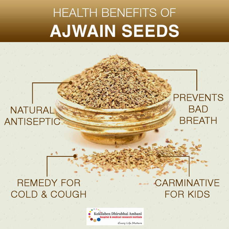 Health benefits of Ajwain seeds