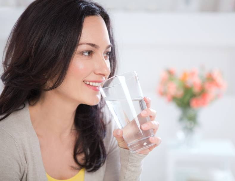 Feeling bloated? Have more water.