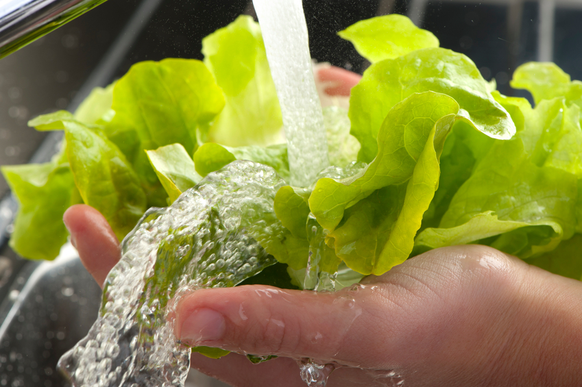 Wash your veggies with salt water