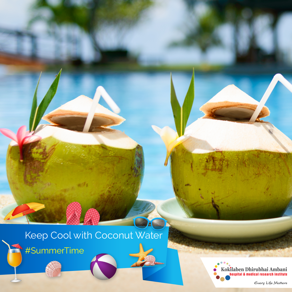 Keep cool with coconut water