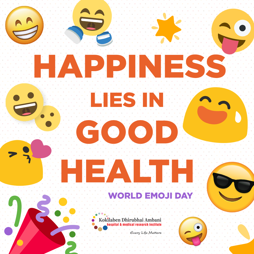 Be Healthy! Be Happy! #WorldEmojiDay!