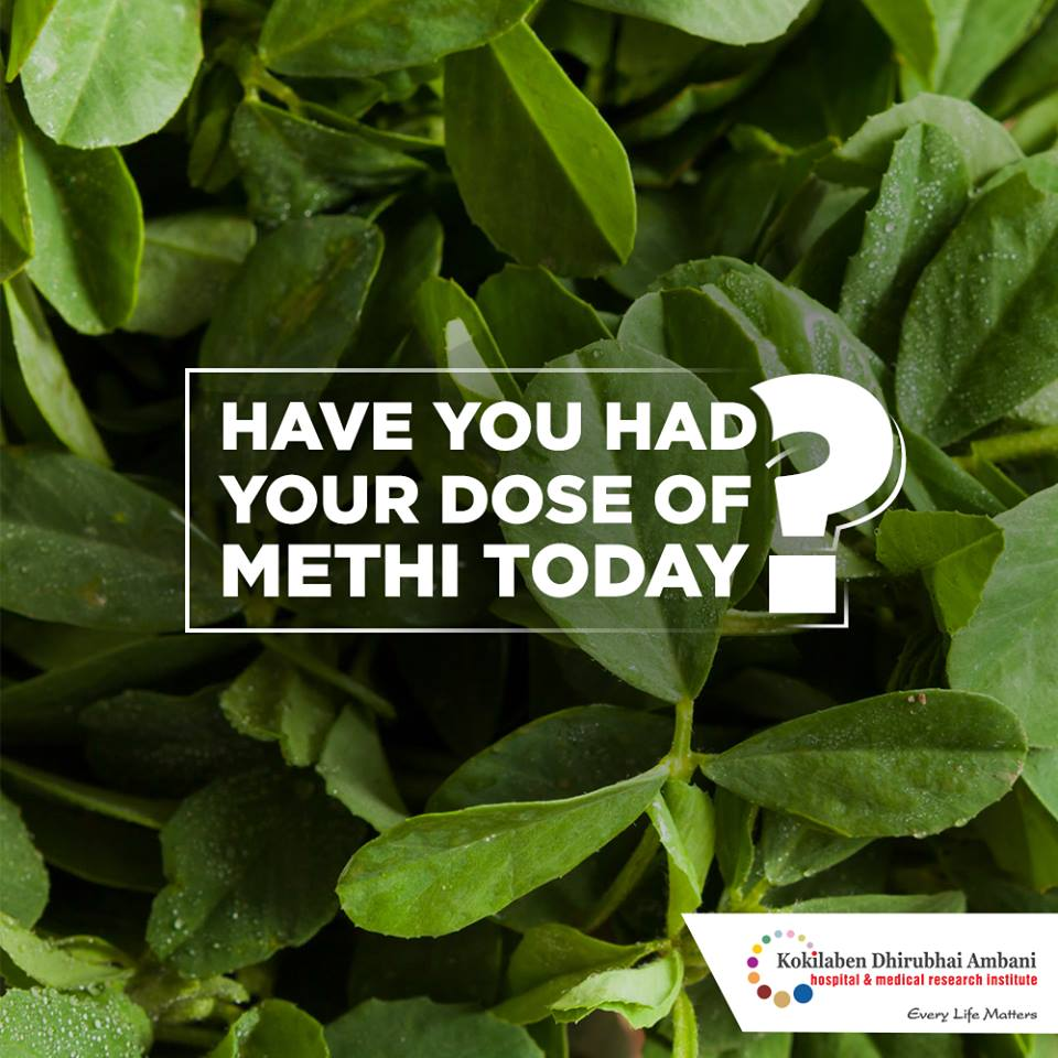 Have you had your dose of methi today?