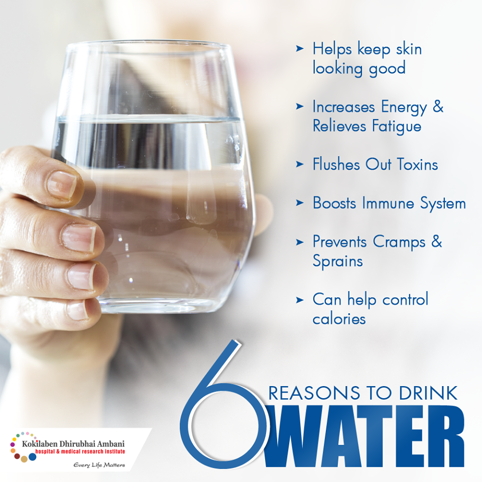 6 reasons to drink water