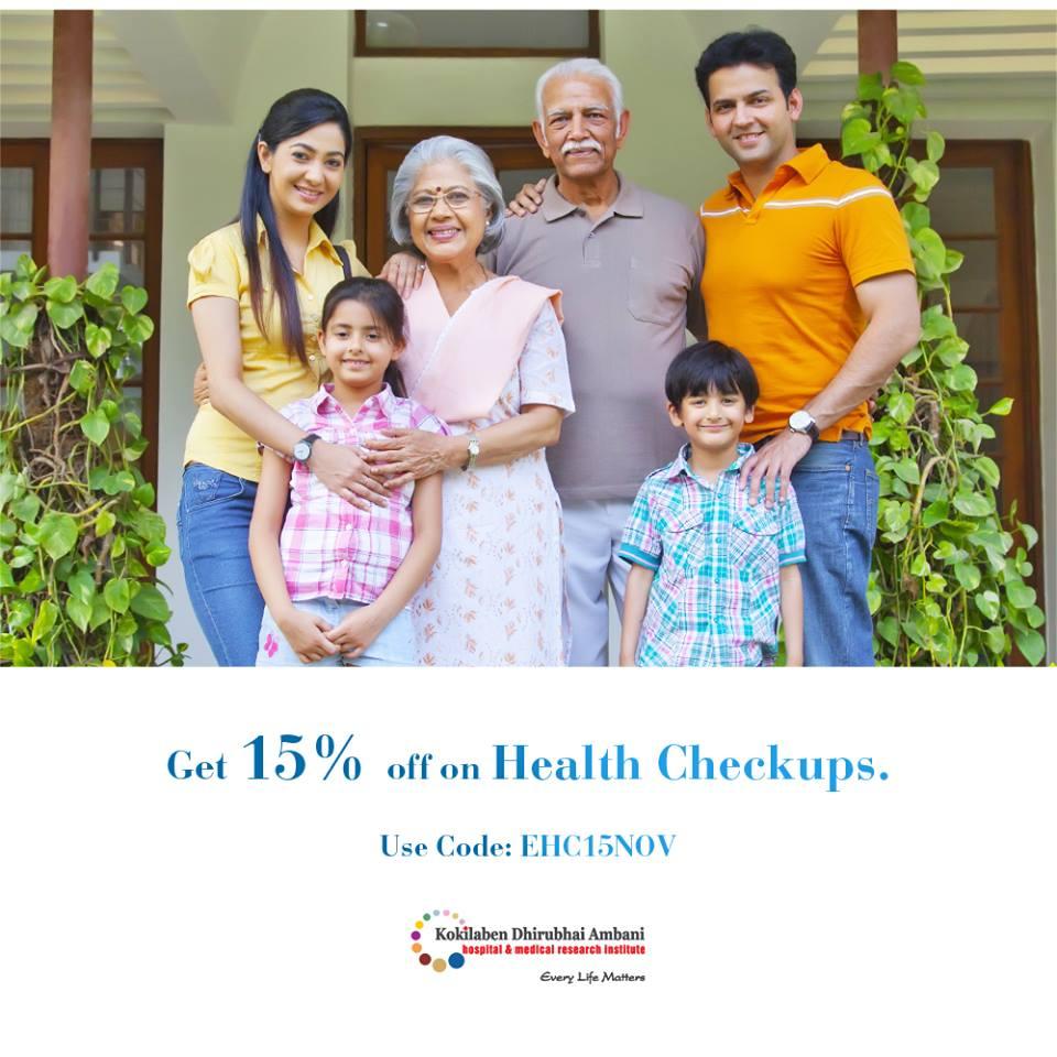 Get 15% off on health checkups