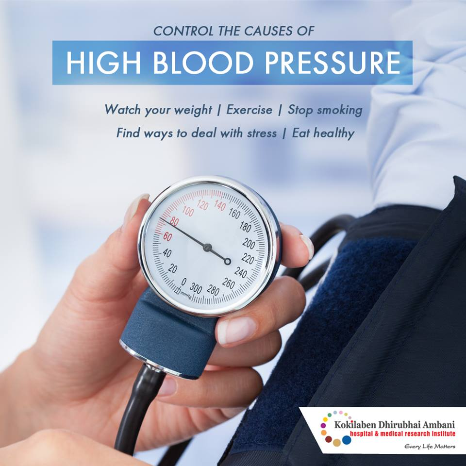 Control the causes of high blood pressure