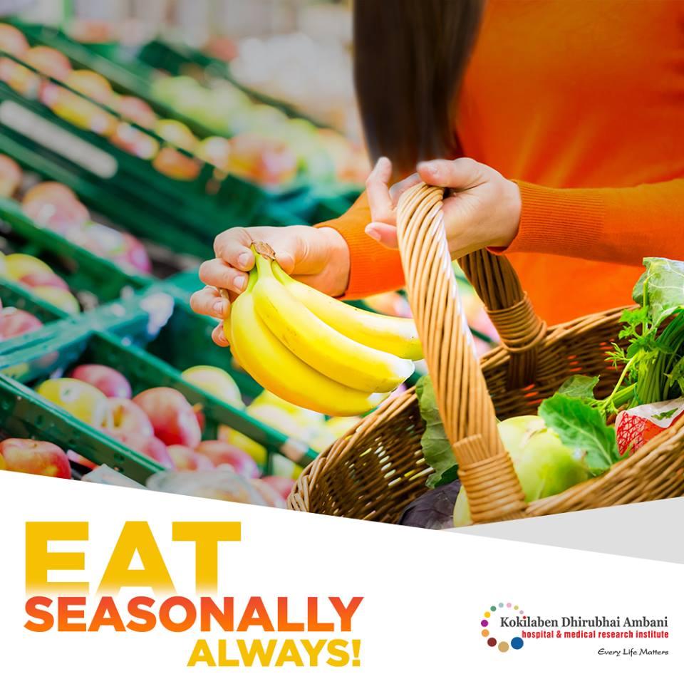 Eat seasonal fruits & vegetables