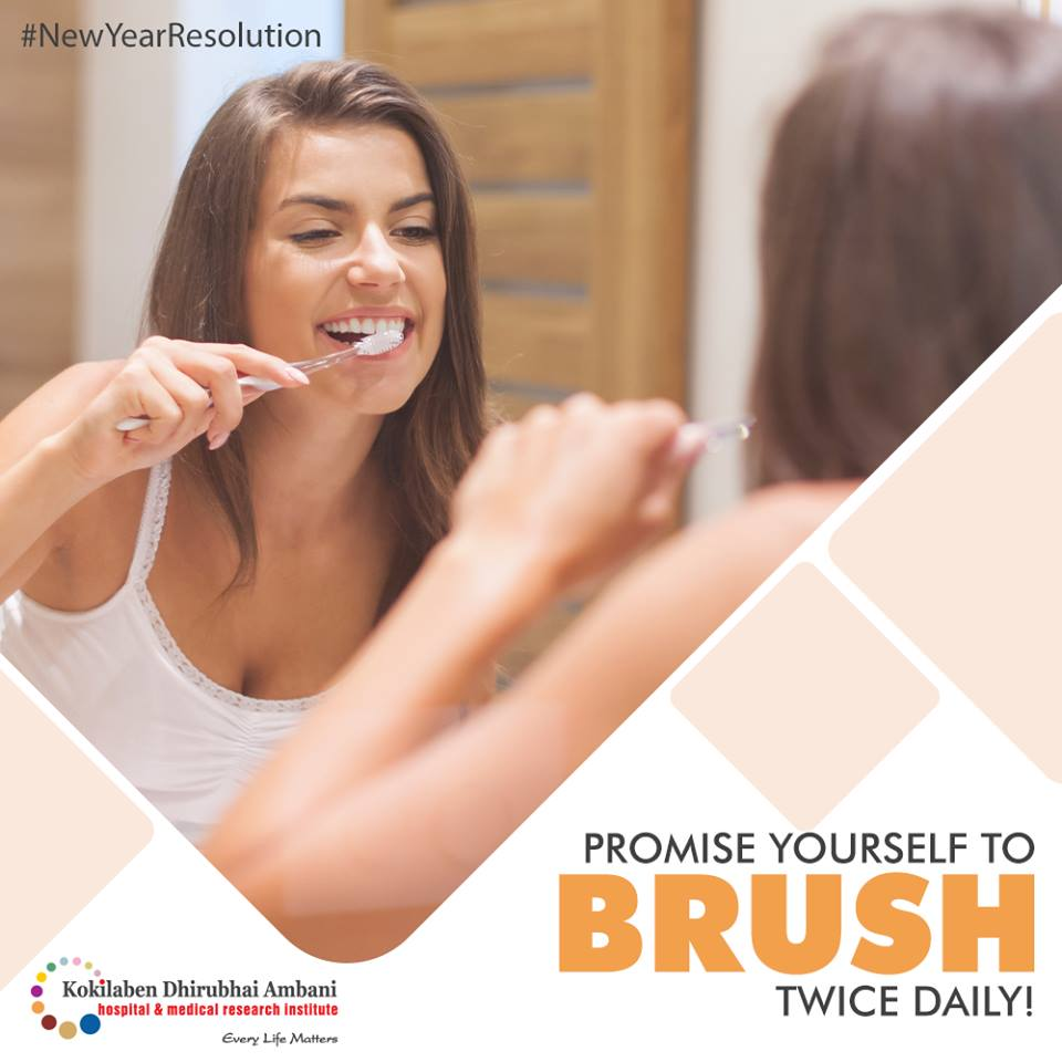 Promise yourself to brush twice daily!