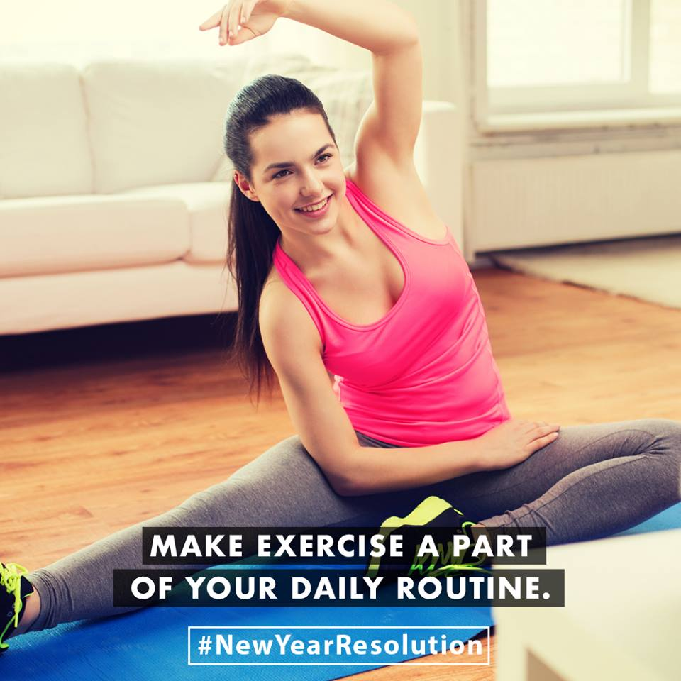 Make exercise a part of your daily routine