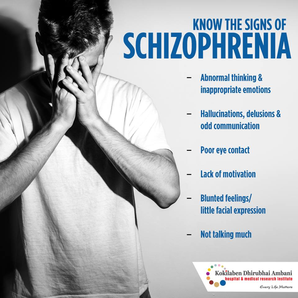 Know the signs of schizophrenia
