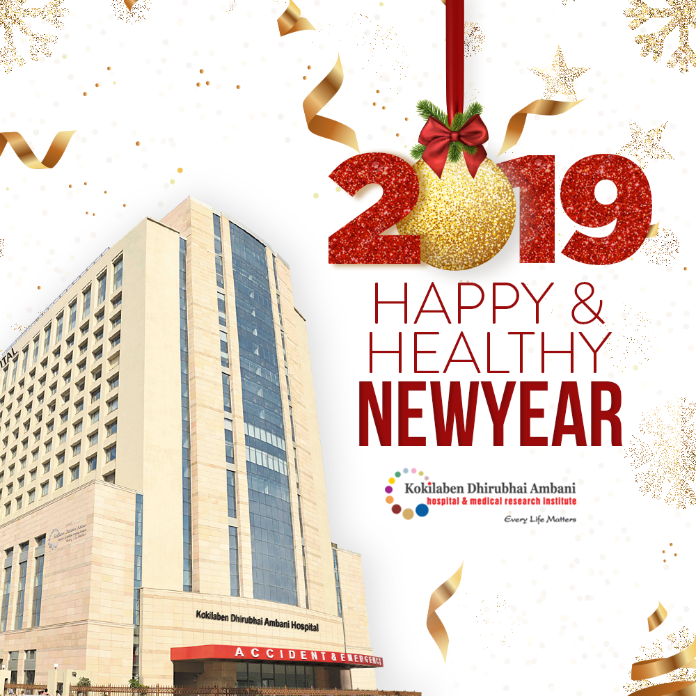 Kokilaben Hospital wishes you a Happy and Healthy New Year!