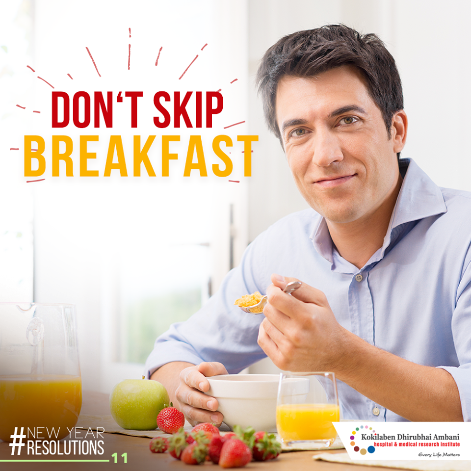 Don't skip breakfast