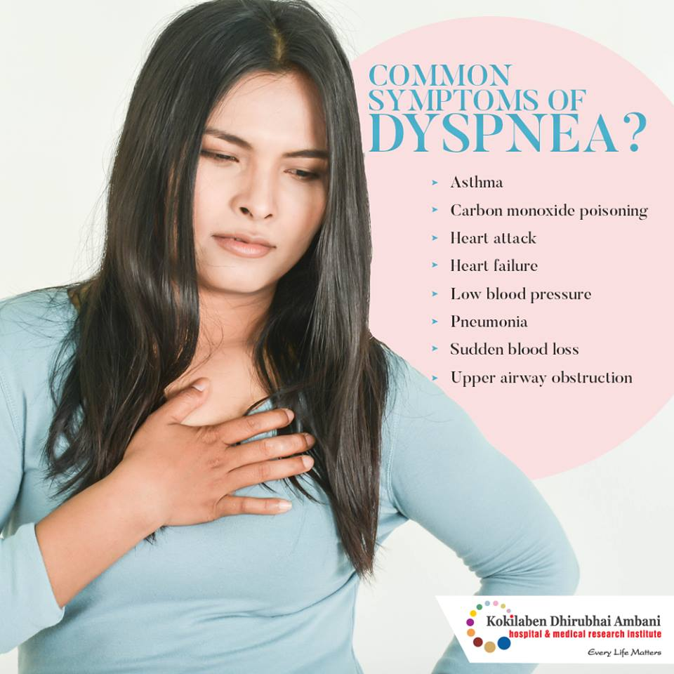 Common symptoms of Dyspnea