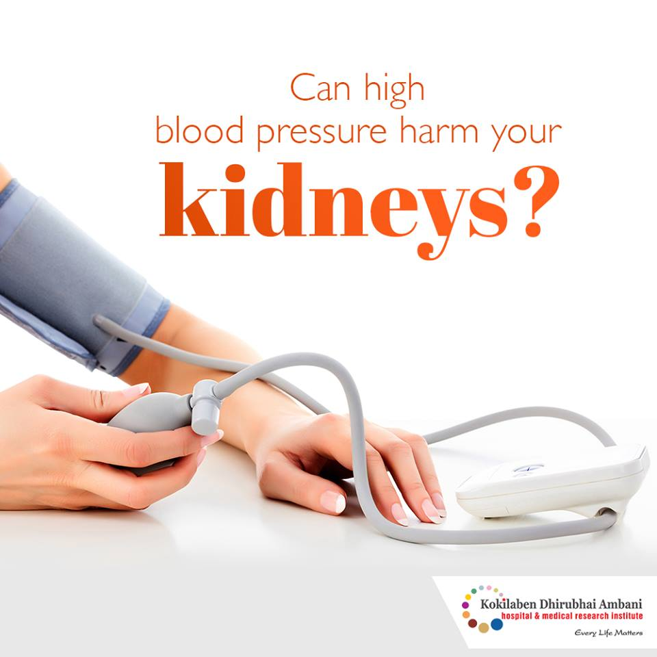 Can high blood pressure harm your kidneys?