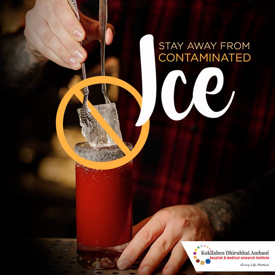 Stay away from contaminated ice