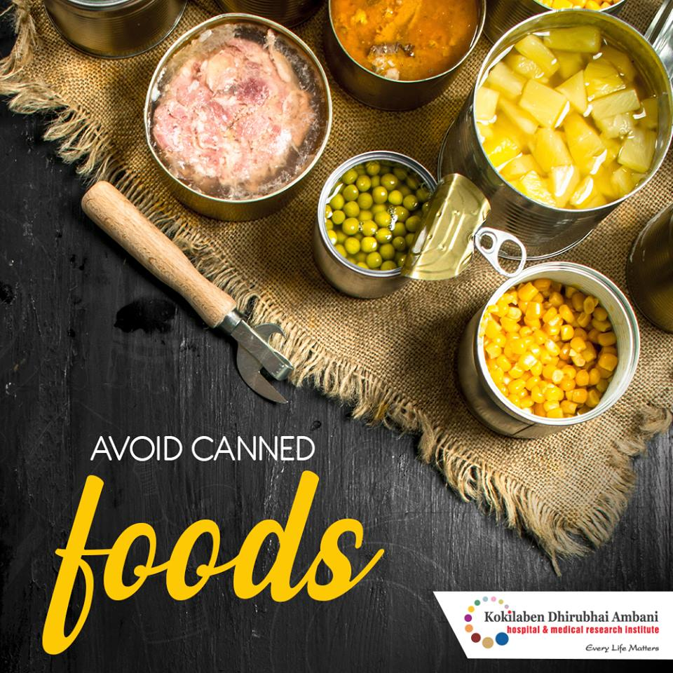 Avoid canned foods