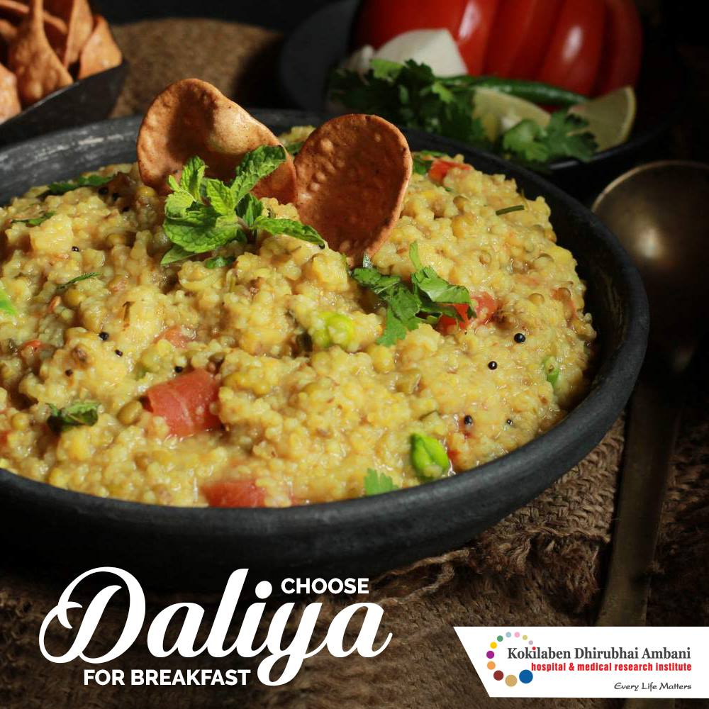 Choose Daliya as a healthy breakfast choice