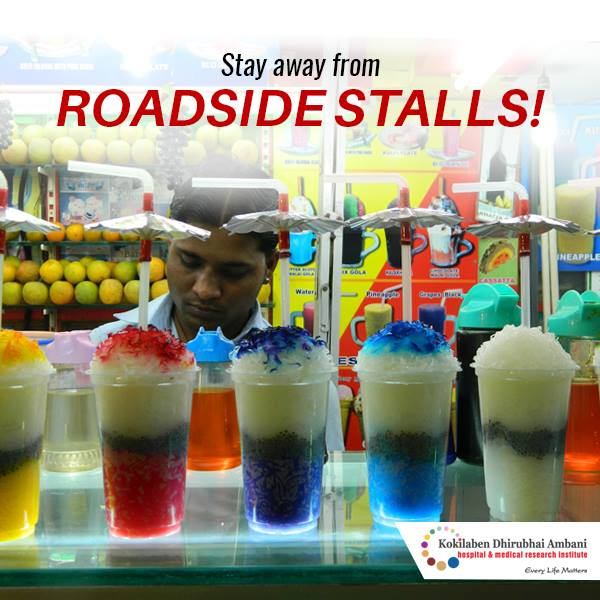 Stay away from roadside stalls