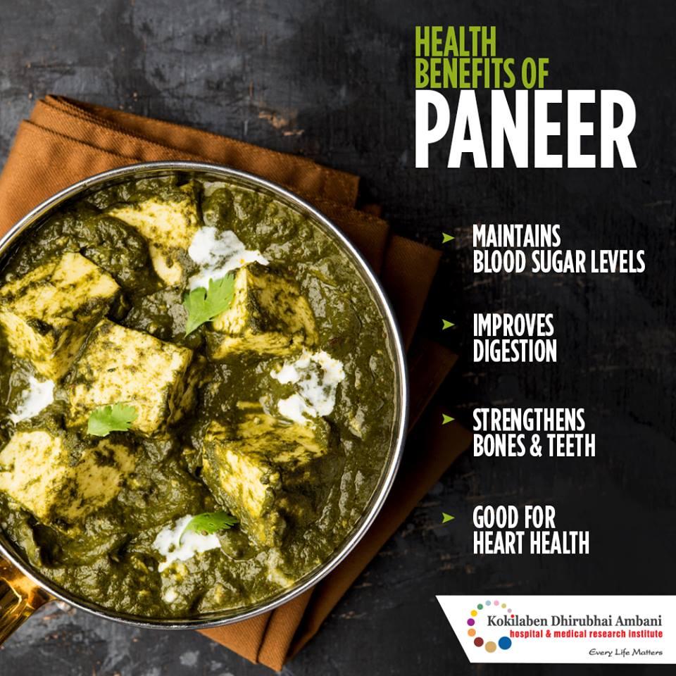 Health benefits of Paneer