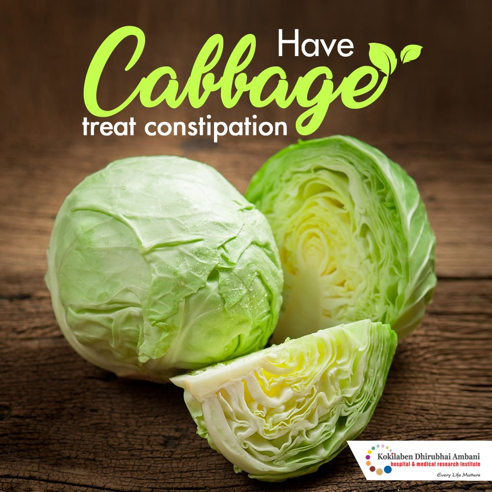 Cabbage: Helps treat constipation