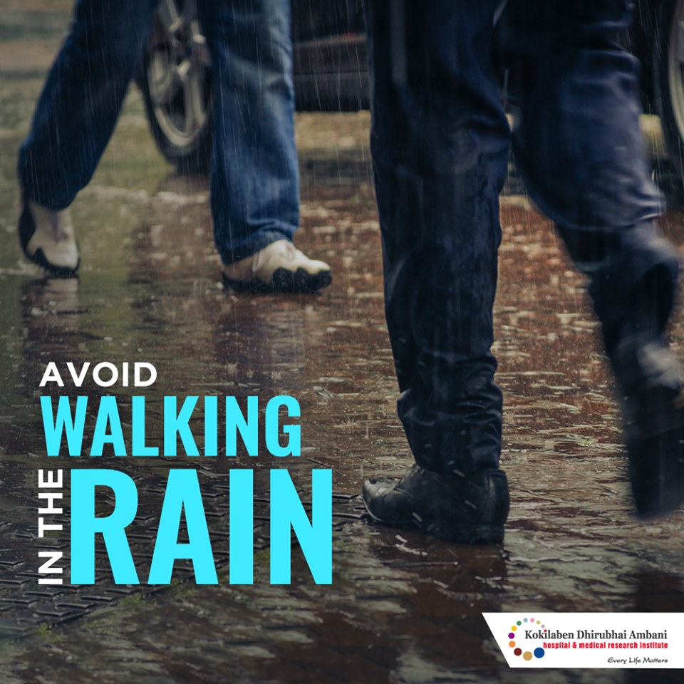 Avoid walking in the rain