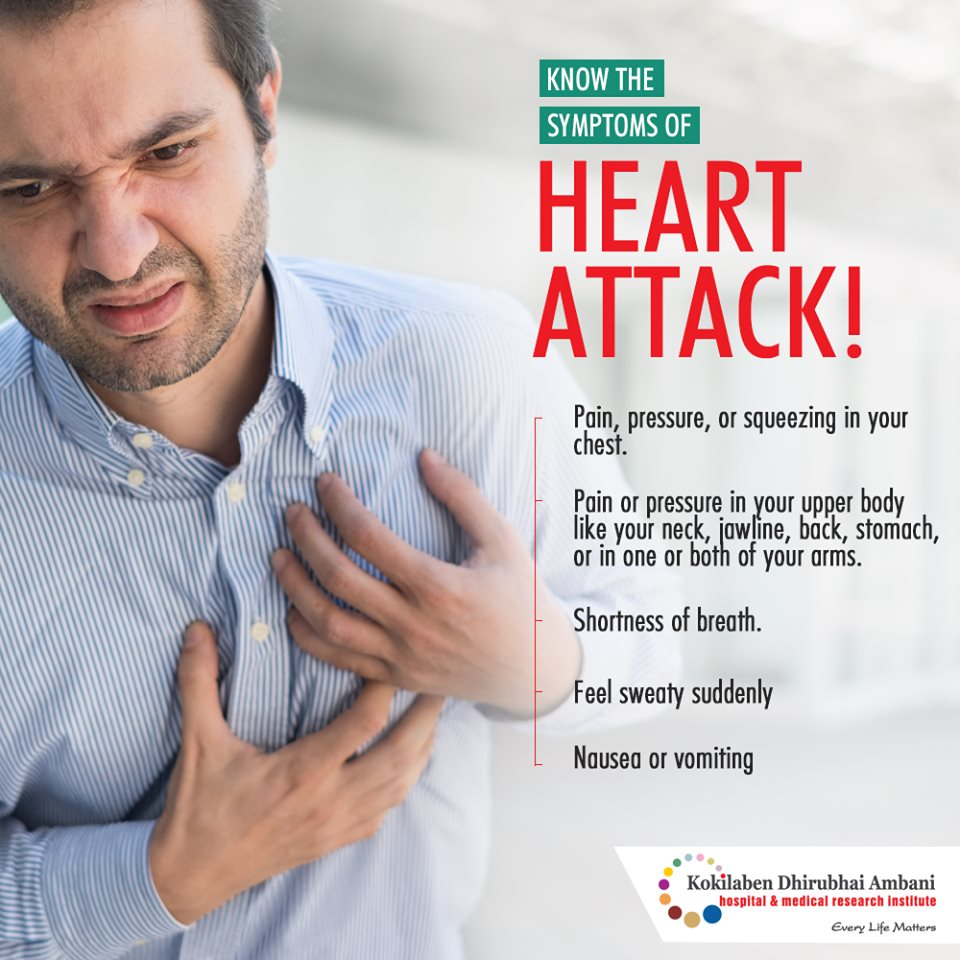 Know the symptoms of heart attack