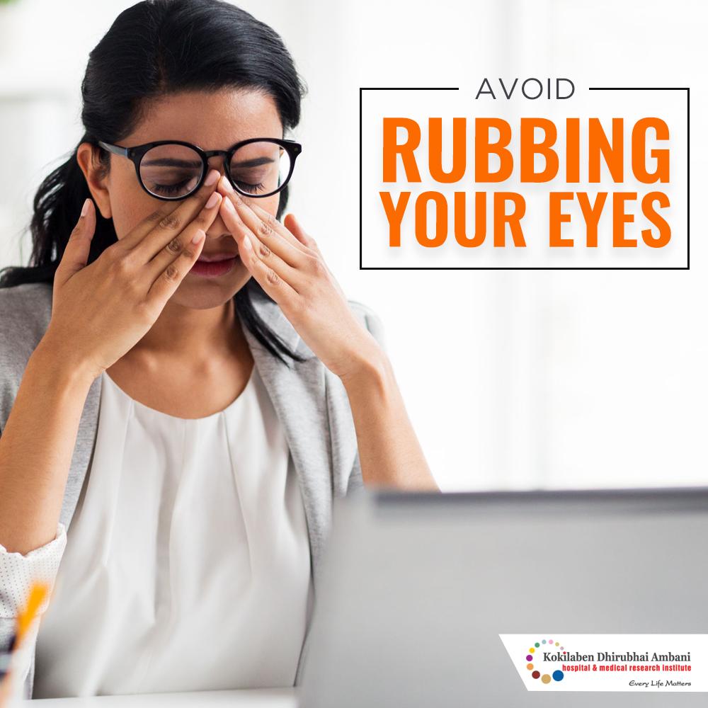 Rub your eyes often?