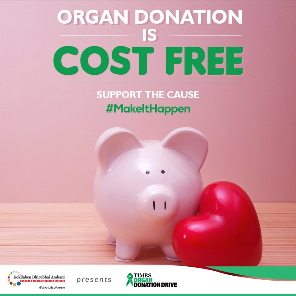 Organ donation is cost free