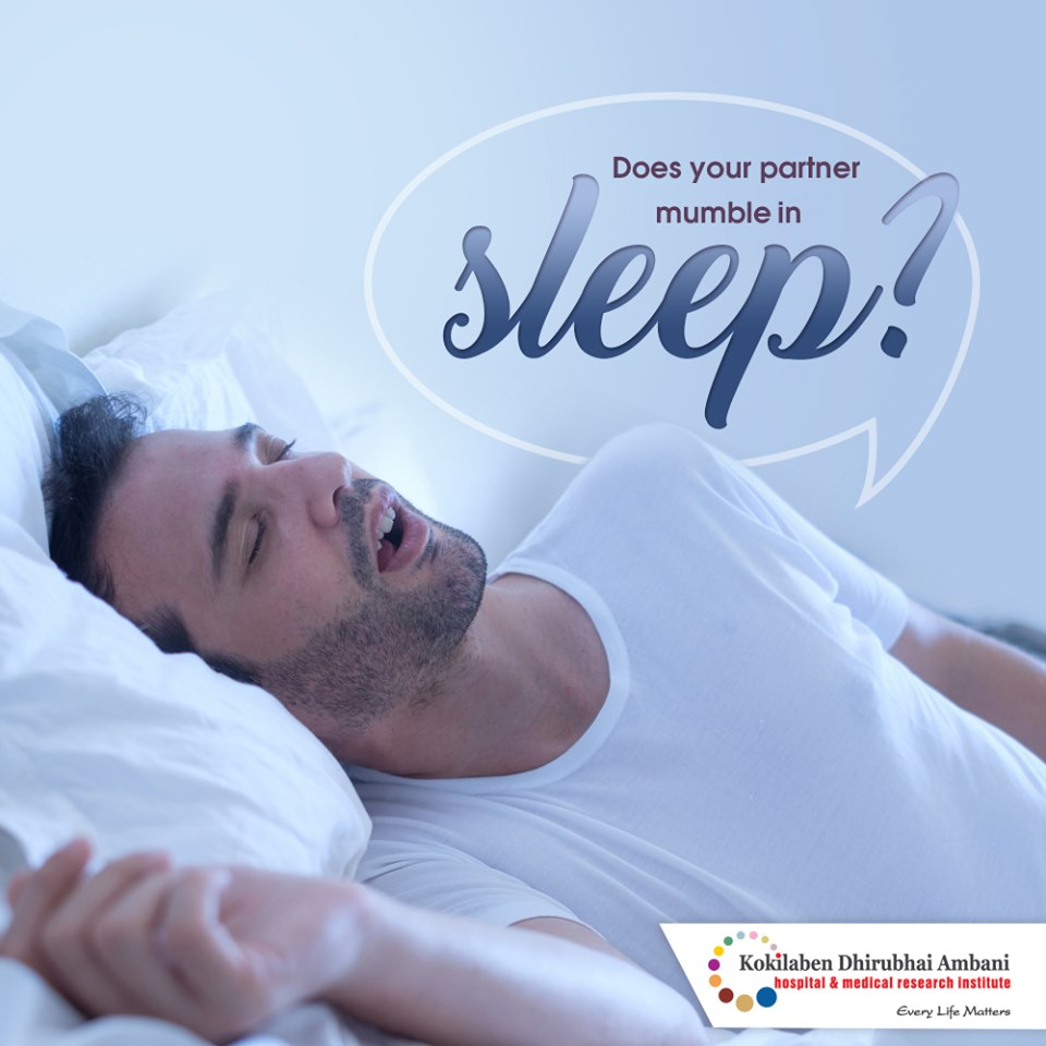 Does your partner mumble in sleep?