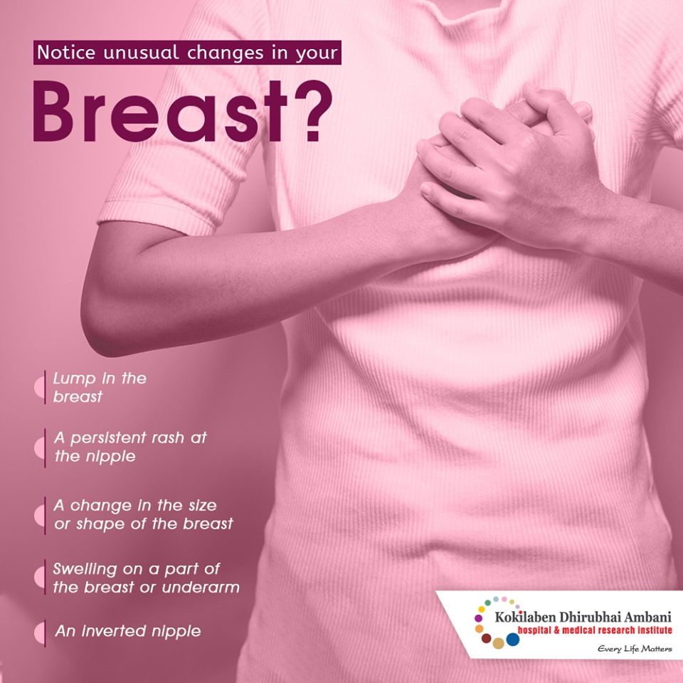 Notice unusual changes in your breast?