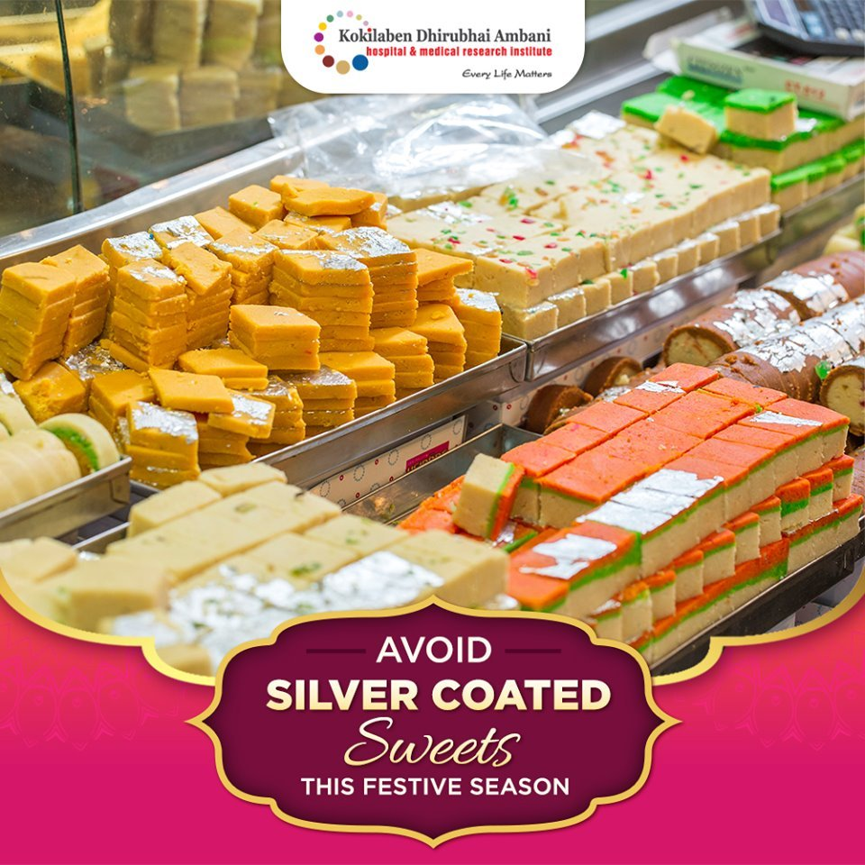 Avoid silver coated sweets